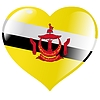Vector clipart: heart with flag of Brunei