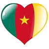 Vector clipart: heart with flag of Cameroon