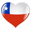 Vector clipart: heart with flag of Chile