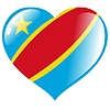 Vector clipart: heart with flag of Congo