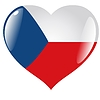 Vector clipart: heart with flag of Czech Republic