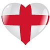 Vector clipart: heart with flag of England