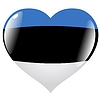 Vector clipart: heart with flag of Estonia