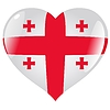 Vector clipart: heart with flag of Georgia