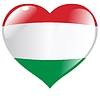 Vector clipart: heart with flag of Hungary
