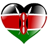 Vector clipart: heart with flag of Kenya