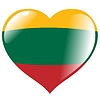 Vector clipart: heart with flag Lithuania