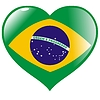 Vector clipart: heart with flag of Brazil
