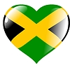 Vector clipart: heart with flag of Jamaica
