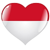 Vector clipart: heart with flag of Indonesia