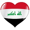 heart with flag of Iraq