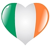 Vector clipart: heart with flag of Ireland