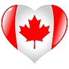 Vector clipart: heart with flag of Canada
