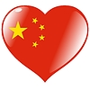 Vector clipart: heart with flag of China
