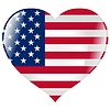 Vector clipart: heart with flag of United States