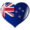Vector clipart: heart with flag of New Zealand