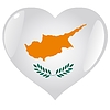 Vector clipart: heart with flag of Cyprus
