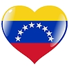 heart with flag of Venezuela
