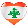Vector clipart: heart with flag of Lebanon