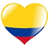 Vector clipart: heart with flag of Colombia