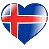 Vector clipart: heart with flag of Iceland