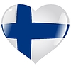 Vector clipart: heart with flag of Finland