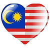 Vector clipart: heart with flag of Malaysia