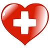 Vector clipart: heart with flag of Switzerland
