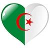 Vector clipart: heart with flag of Algeria