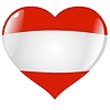 Vector clipart: heart with flag of Austria