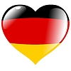 Vector clipart: heart with flag of Germany