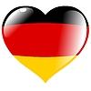 Векторный клипарт: Сердце с флагом Германии