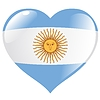 Vector clipart: heart with flag of Argentina