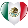 Vector clipart: heart with flag of Mexico