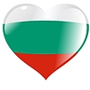 Vector clipart: heart with flag of Bulgaria