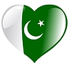 Vector clipart: heart with flag of Pakistan