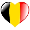 Vector clipart: heart with flag of Belgium