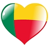 Vector clipart: heart with flag of Benin