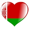 Vector clipart: heart with flag of Belarus