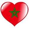 Vector clipart: heart with flag of Morocco