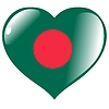 Vector clipart: heart with flag of Bangladesh