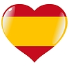 Vector clipart: heart with flag of Spain