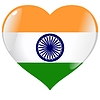 heart with flag of India