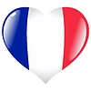 Vector clipart: heart with flag of France