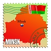 Minsk - capital of Belarus | Stock Vector Graphics