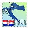 Vector clipart: Zagreb - capital of Croatia
