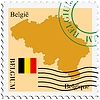 Vector clipart: mail to-from Belgium