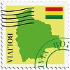 Vector clipart: mail to-from Bolivia