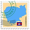 Vector clipart: mail to-from Cambodia