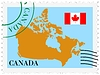 Vector clipart: mail to-from Canada